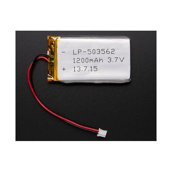 1200 mAh 3.7 V Lithium-ion Polymer Battery