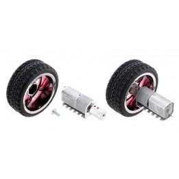 Adaptateur de roue hexagonale 12 mm pour arbre de 4 mm (pack de 2)