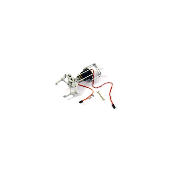 Aluminum robotic gripper with 2 servos