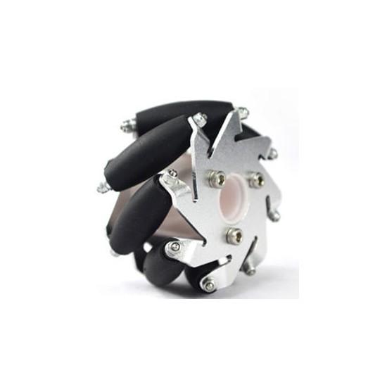 Roue mecanum gauche en aluminium (60 mm)