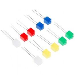 Pack de 10 Led en forme de brique Lego