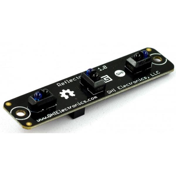 Réflecteur infrarouge Gadgeteer pour la détection de rebords ou le suivi de ligne au sol