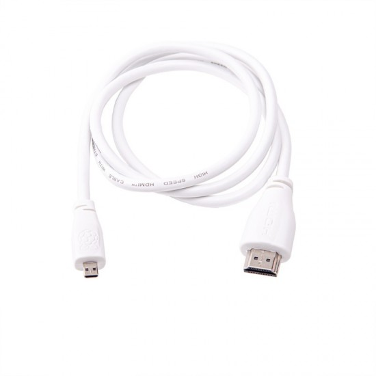Câble HDMI - micro HDMI 1m Officiel Raspberry Pi (blanc)
