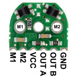 Paire d'encodeurs optiques pour micro-moteurs (version 3.3V)