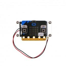 Boîtier acrylique transparent avec support de pile pour micro:bit