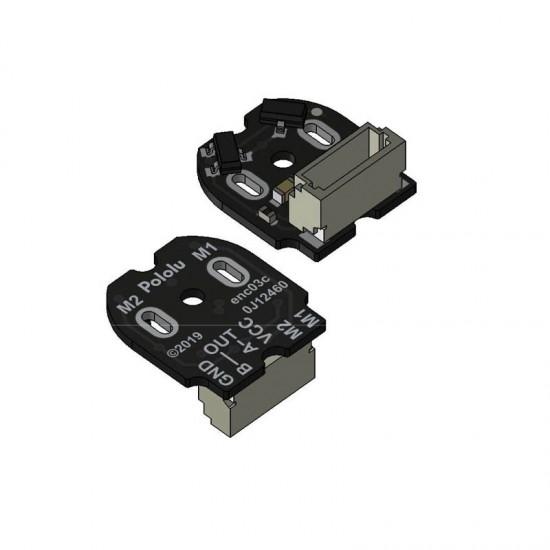 Paire d'encodeurs magnétiques pour micro-moteurs Pololu 12 CPR, 2.7-18V avec connecteur latéral