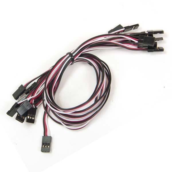 Lot de 10 câbles 3 pin 300 mm RobotGeek