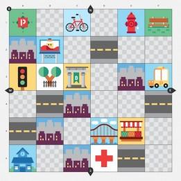 Großstadt Abenteuer Pack für Cubetto Roboter