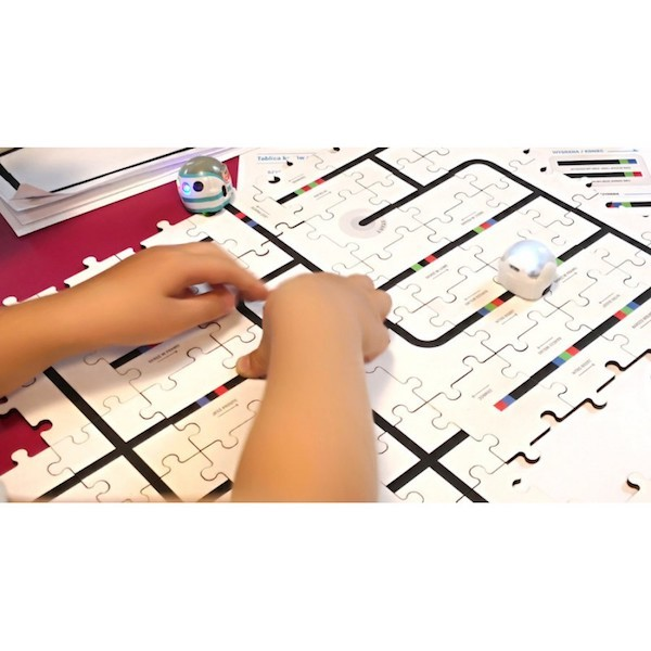 Wooden Ozobot Circuit Puzzle