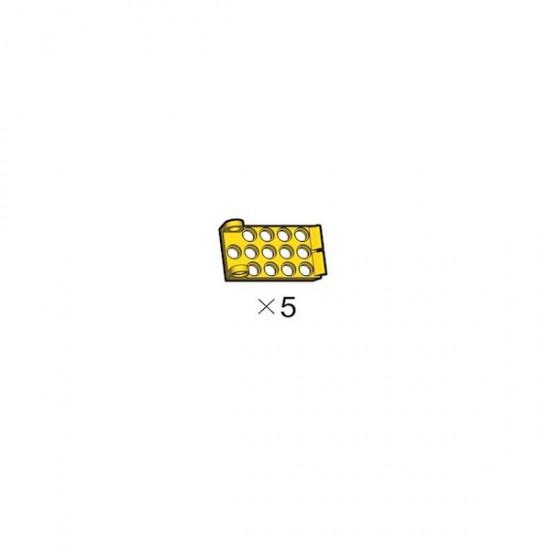 5 gelbe Adapterplatten OLLO