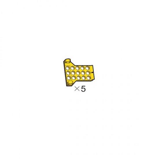 5 Plaques adaptatrices W jaunes OLLO