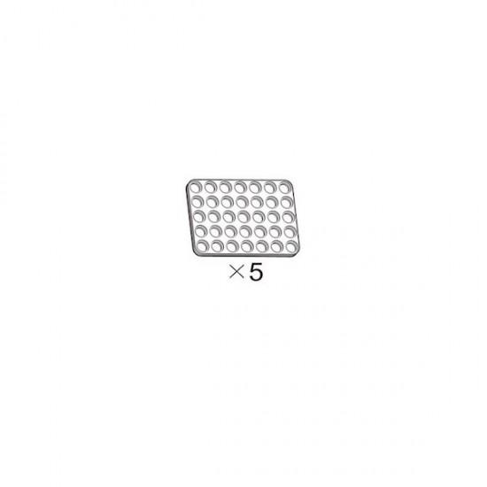 5er-Pack weiße OLLO-Platten 5x7