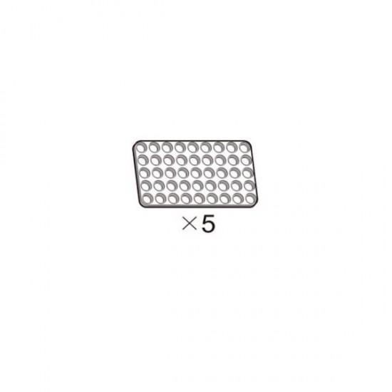 Lot de 5 plaques blanches OLLO 5x9