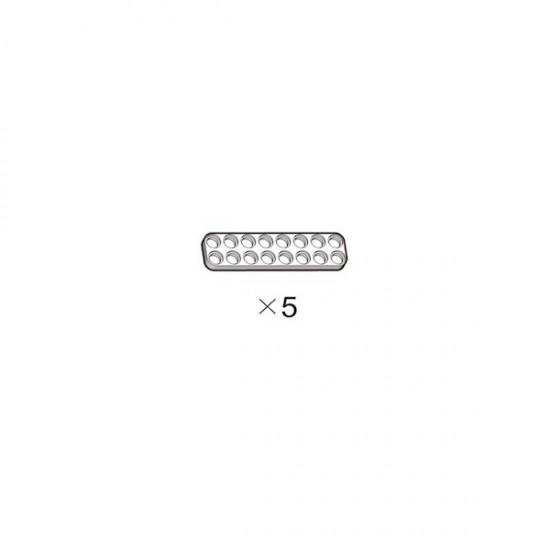 OLLO Plate 2X8 white 5pcs