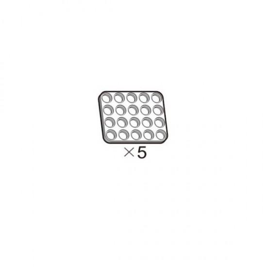 Lot de 5 plaques blanches OLLO 4x5