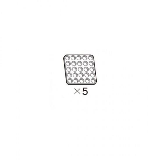 5er-Pack weiße OLLO-Platten 5x5