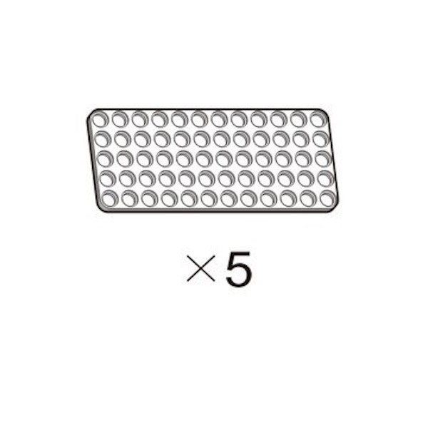 OLLO Plate 5X12 white 5pcs