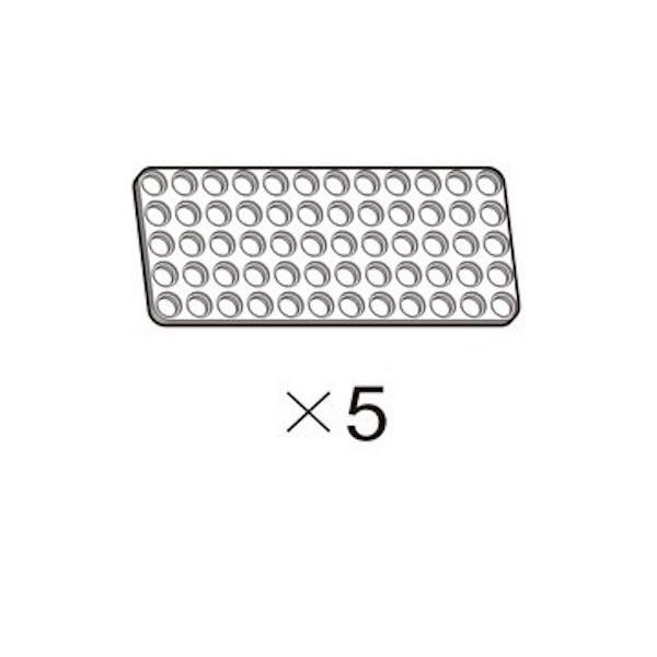 Plaque OLLO 5x12 blanche (5 pièces)