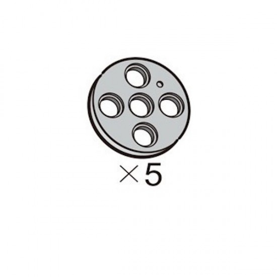 Poulie L OLLO grise (5 pièces)