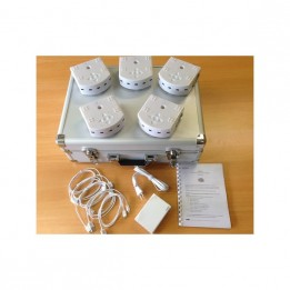 Set of 5 Thymio 2 robots with USB charger and remote control