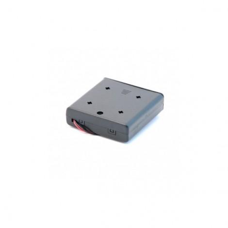Halter für 4 AA-Batterien mit Lego-Aussparungen