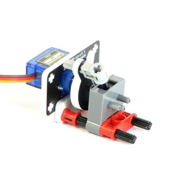 Servo-Operated Pneumatic Valve Kit for NXT or EV3 (valve included)