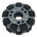 100mm Double Nylon-Rubber omniwheel (with bearing rollers)