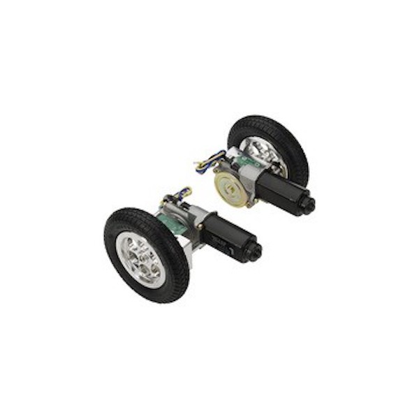 Motorisierte Räder mit Gestell und Positionsregler von Parallax