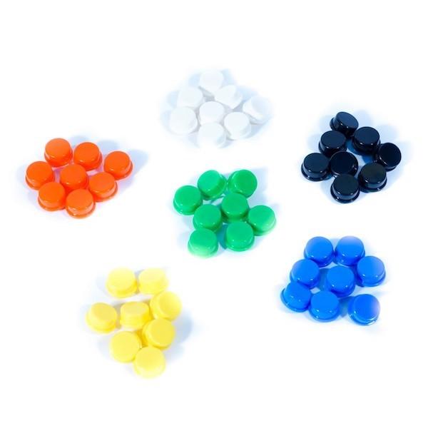 Capuchons colorés pour boutons MAKERBuino