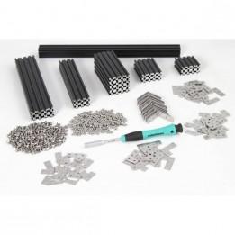 MakerBeam Starter Kit schwarz (eloxiertes Aluminium)