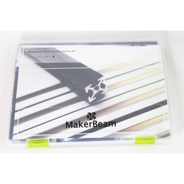 Starter Kit MakerBeam - Noir (alu anodisé)