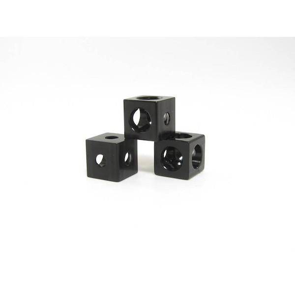 MakerBeam Eckwürfel - Schwarz (x12)