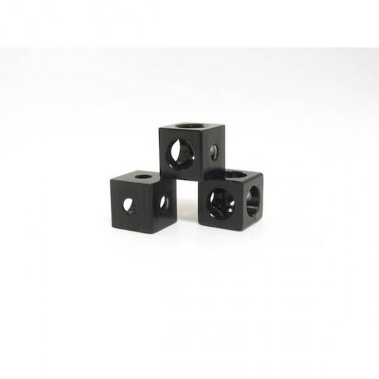 Corner cubes black for MakerBeam (x12)
