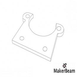 Support plat MakerBeam pour micro moteur pas-à-pas