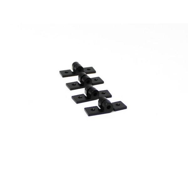 Charnières noires MakerBeam (x4)
