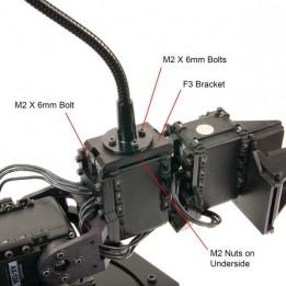Flexibler Schwanenhals für Kameras oder Sensoren - kompatibel mit Dynamixel - Länge 250 mm