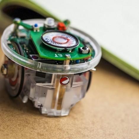 E-Puck Robot mit Batterie und Bodensensor zur Linienfolge