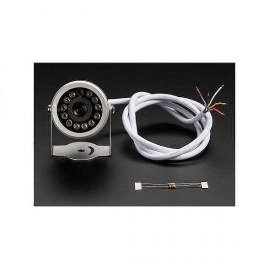 Serielle jpeg-Videokamera mit Infrarot-LED