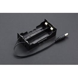 Support pour 2 batteries 18650 avec embout jack
