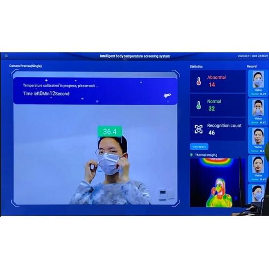 Système IA de reconnaissance et prise de température à distance