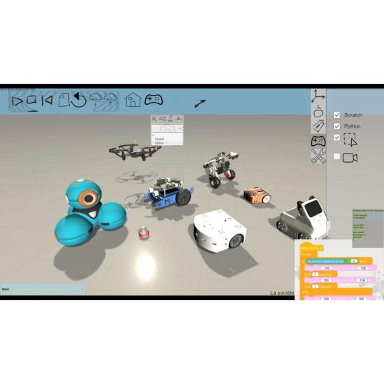 Licence Miranda - simulateur de robots éducatifs