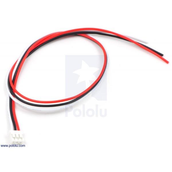 Câble femelle JST 3 pins pour capteur Sharp GP2Y0A51 (30 cm)