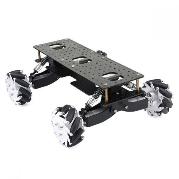 Châssis 4 roues mecanum avec suspensions