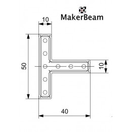 Equerre en T MakerBeam (x12)