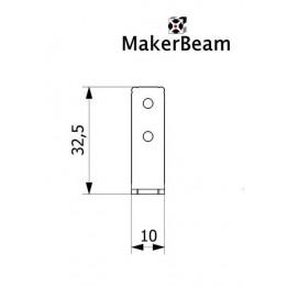 Equerre MakerBeam pour coin en L-90° (x12)