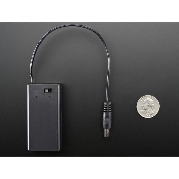 Boîtier pour batterie 9V avec interrupteur et prise jack - compatible Arduino