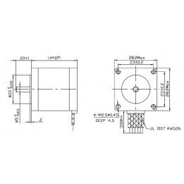 Stepper Motor: Bipolar, 200 Steps/Rev, 28×32mm, 3.8V, 0.67 A/Phase