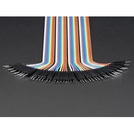 "Premium Male/Male Jumper Wires - 40 x 3"" (75mm)"