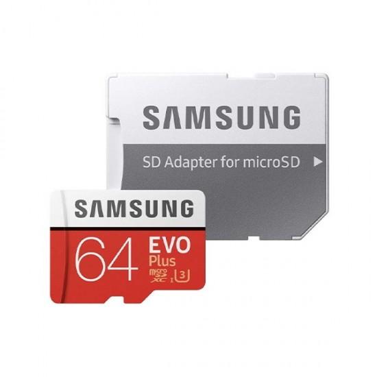 Carte SD Samsung 64 Go Evo Plus UHS 3 avec adaptateur pour Raspberry Pi et Nvidia Jetson