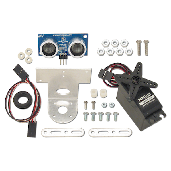 Ultraschall PING))) Sensor mit Montage-Kit und Servomotor